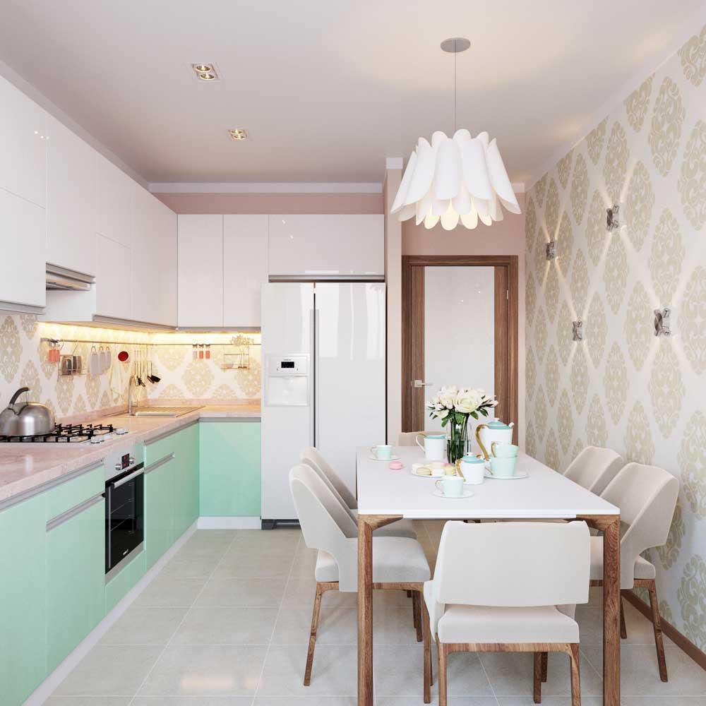 Интерьер кухни 10 кв.м фото с выходом на балкон фото