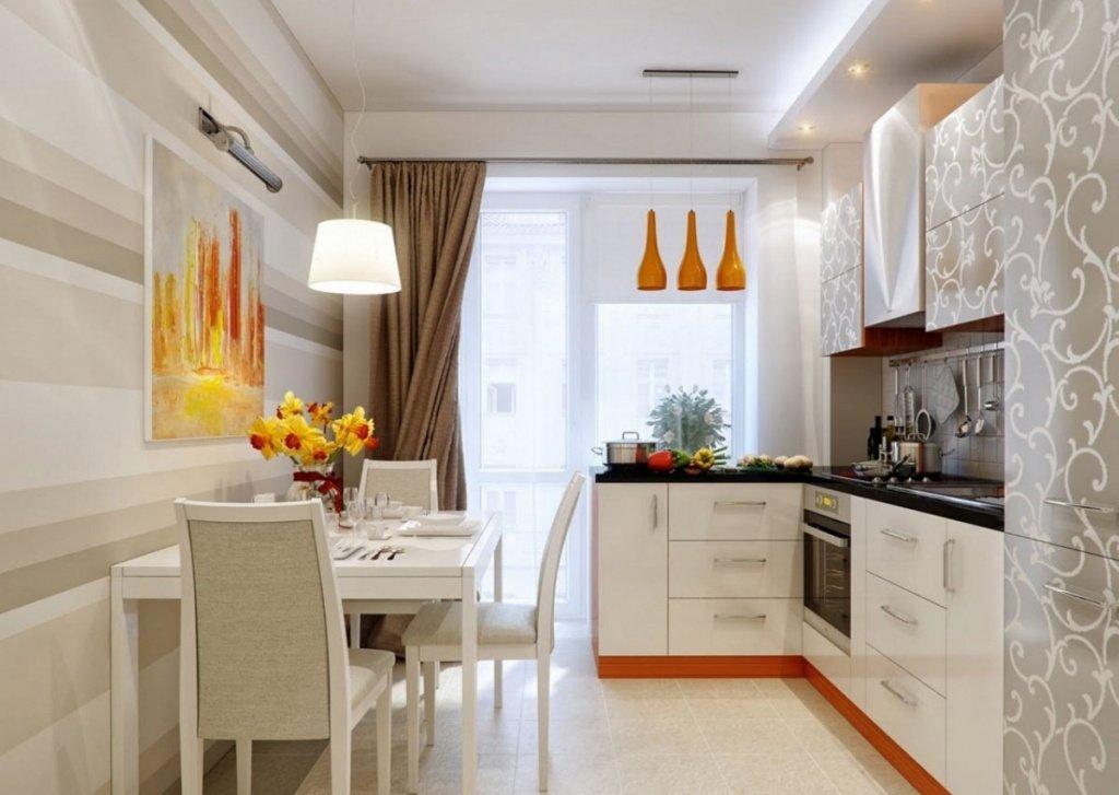 Дизайн кухни 11 квм с балконом с диваном