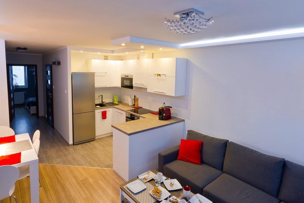 Дизайн интерьера фото маленькая гостиная с кухней