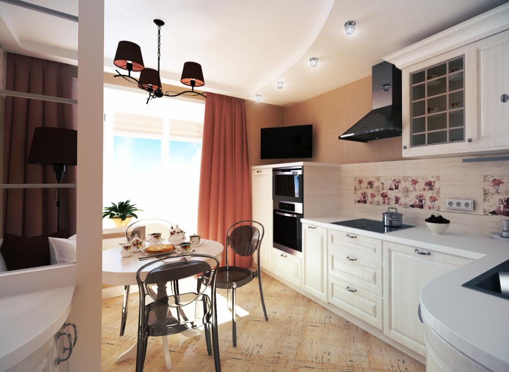 Кухня на 11 кв.м. дизайн