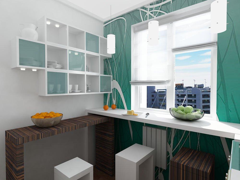 Дизайн маленькой кухни - 75 фото интерьеров, идеи для ремонта   750x1000