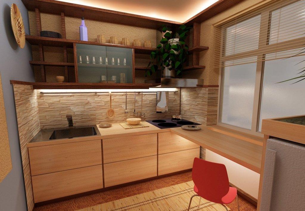 Фото дизайна маленьких нестандартных кухонь