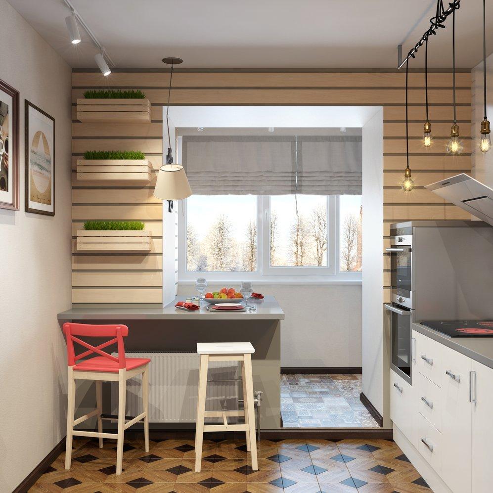 Идея кухни с балконом фото