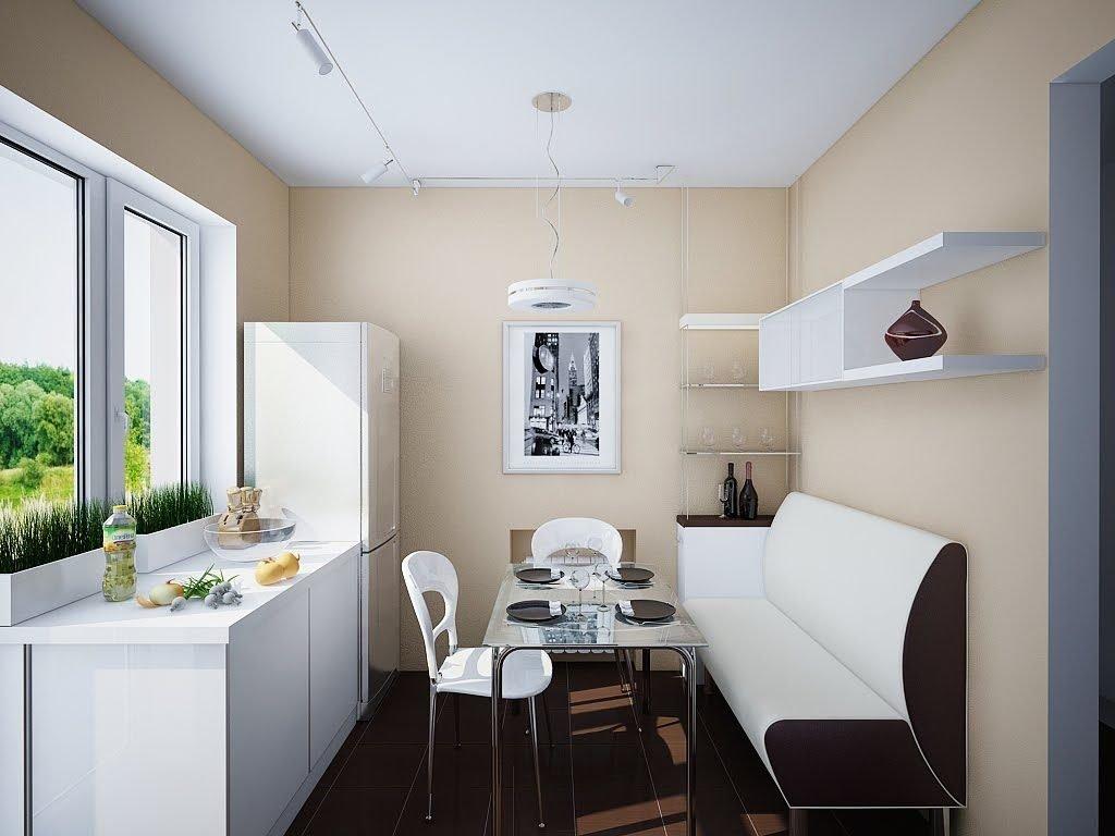 Интерьер кухни 9 кв м с диваном фото