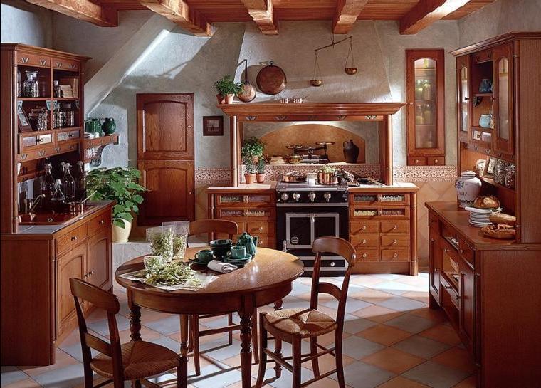 Дизайн деревенской кухни