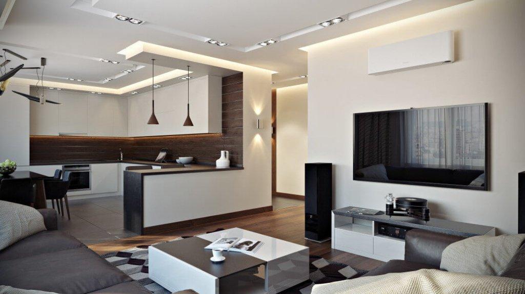 модный дизайн квартиры студии
