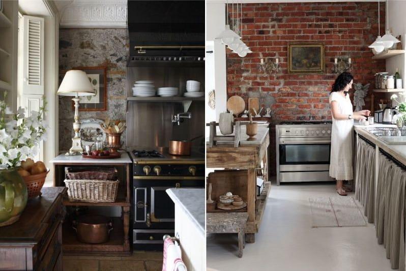 дизайн современной кухни в деревенском стиле