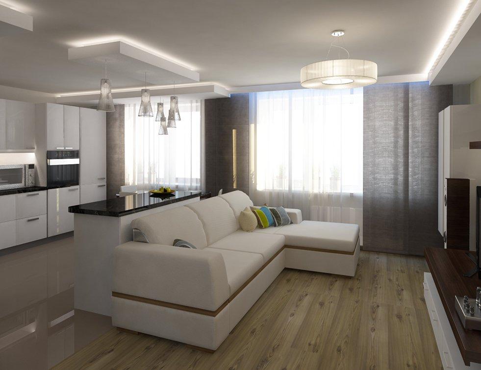дизайн кухни гостиной 25 кв м фото