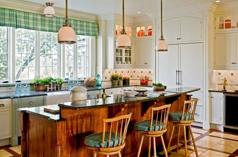 естественное освещение в кантри кухне
